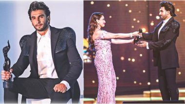 Filmfare Awards 2020: Ranveer Singh Receives the Best Actor Award from Madhuri Dixt Nene; Gully Boy Says, 'Etched In My Heart Forever'