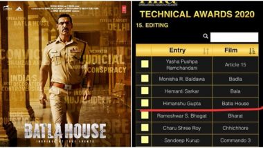 Did IIFA 2020 Organisers Screw Up The Names of Batla House Technicians For Their Entries in the Technical Award Categories?