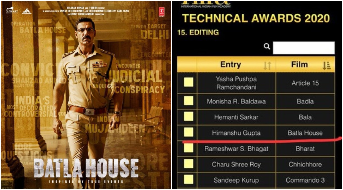 Did IIFA 2020 Organisers Goof-Up The Names of Batla House Technicians For Their Entries in the Technical Award Categories?