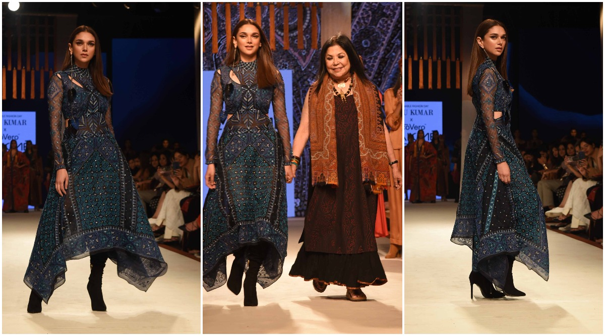 Lakme Fashion Week 2020 Summer/Resort: Aditi Rao Hydari Stuns as a Ritu Kumar Showstopper (View Pics)