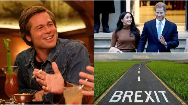 BAFTA Awards 2020: Brad Pitt Pokes Fun at Brexit and Prince Harry, Meghan Markle's MegXit in His Award Acceptance Speech (Watch Video)
