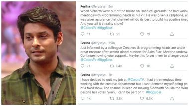 Bigg Boss 13: Did A Colors Executive Quit Her Job Over Channel Fixing Siddharth Shukla as Winner?