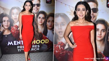 Mentalhood Trailer Launch: Karisma Kapoor Looks Captivating in a Flashy Dress and It's Fashion Done Right (View Pics)