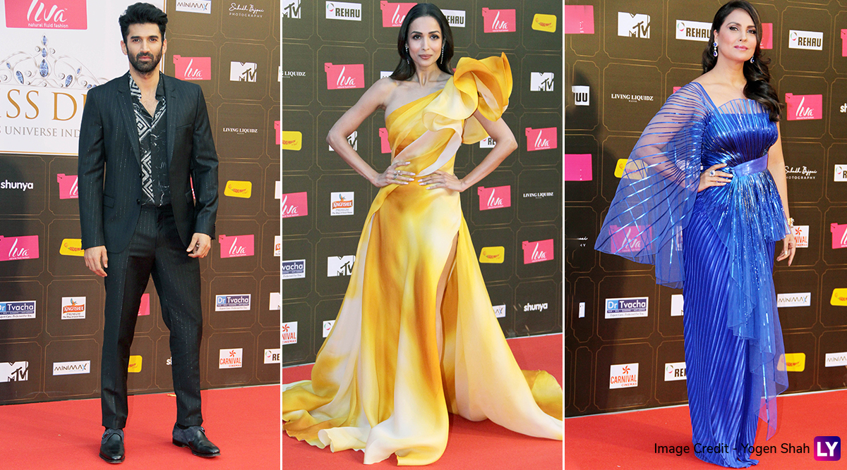 Miss Diva 2020: Malaika Arora, Lara Dutta, Aditya Roy Kapur Slay in Style on the Grand Finale Red Carpet (See Pics)