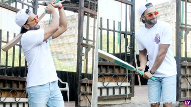 Ranveer Singh Attends a Charity Cricket Match and Meets Football Legend Alan Shearer (See Pics)