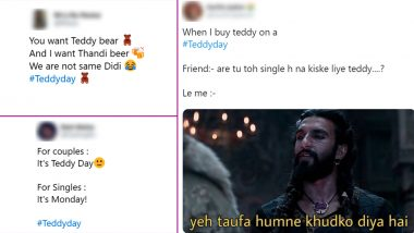 Teddy Day 2020 Funny Memes and Jokes Take Over Twitter! Singles Celebrate 'Another Monday' Taking a Dig on Valentine Week