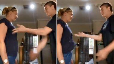 Teen Slaps His Mom's Breasts for Weird TikTok Stunt, Twitterati Unimpressed (Watch Video)