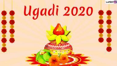 Ugadi 2020 Images With Wishes in Telugu: WhatsApp Stickers, Ugadi Subhakankshalu GIF Greetings, Facebook Messages and SMSes to Celebrate Telugu New Year