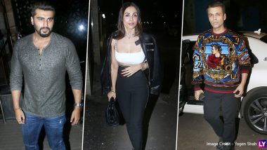 Arjun Kapoor, Malaika Arora, Karan Johar and Others Spotted Making a Stylish Appearance for a Party (View Pics)