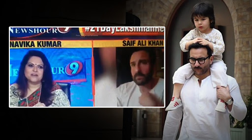 'Taimur's On Potty', Saif Ali Khan's Reason for Not Bringing His Little Tot on National Television Will Leave You in Splits (Watch Video)