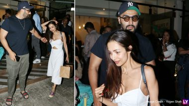 Malaika Arora and Arjun Kapoor Step Out for a Romantic Dinner Date (View Pics)