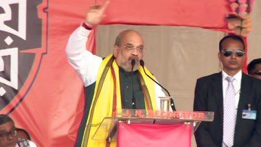 'Goli Maaro' Slogan Heard During Amit Shah's Pro-CAA Rally in Kolkata; Watch Video