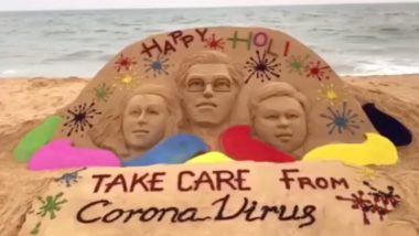 Happy Holi 2020! From Sudarsan Pattnaik's Holi Sand Art with Coronavirus Caution to Twitterati Flooding Social Media with Greetings, Wishes and Memes, Here's How Netizens Celebrate Festival of Colours
