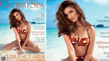 Tara Sutaria Oozes Oomph in her Polka Dots Bikini on the Cover of Global Spa Magazine (View Pic)