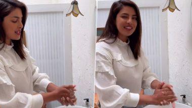 COVID-19 Pandemic: After Deepika Padukone and Anushka Sharma, Priyanka Chopra Takes Up WHO's 'Safe Hands Challenge' and Further Nominates Nick Jonas, Amitabh Bachchan for Same