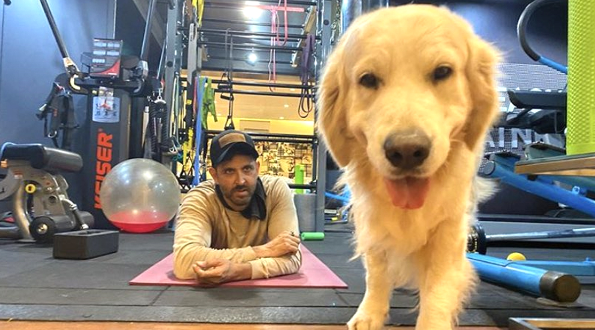 Hrithik Roshan Shares an Adorable Picture with his Dog Zane and Urges Fan to Stay at Home and Love their Pets During this 21 Days Lockdown
