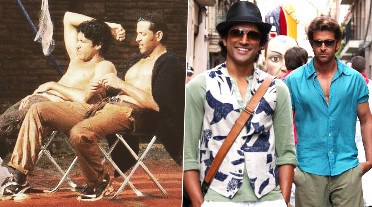 Farhan Akhtar's Throwback Thursday Post With Hrithik Roshan ShowsZNMD's 'Imran and Arjun' in Chill Mode (View Pic)