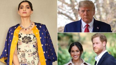 Sonam Kapoor Reacts to Donald Trump's Tweet About Meghan Markle and Prince Harry, Says'Americans Must Be So Embarrassed Right Now'