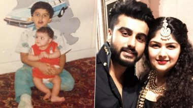 Arjun Kapoor Shares an Adorable Throwback Post With Sister Anshula Kapoor, Calls Her His 'Isolation Partner' Since 1990 (View Pic)