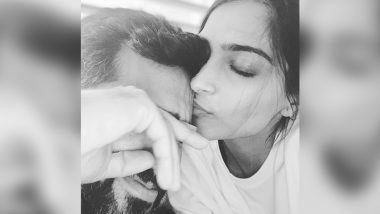 Sonam Kapoor Kisses Husband Anand Ahuja in an Adorable Instagram Picture and We are in Love With Their Quarantine Romance (View Pic)