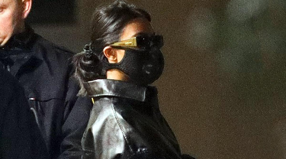 Reality TV Star Kourtney Kardashian Wears a Mask in Paris Over Coronavirus Threat