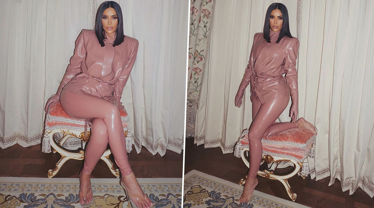 Kim Kardashian Is Badly Missing Her Paris Trip, Shares Throwback Pics in a Latex Suit (View Pics)