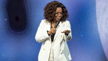 Oprah Winfrey Falls on Stage While Talking About Balance in Her Speech (Watch Video)