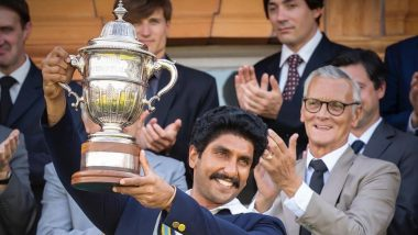83-The Film: Ranveer Singh Recreates Kapil Dev's Iconic World Cup Trophy Moment and The Pic is Filled With Pure Nostalgia!