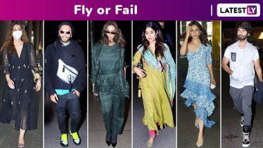 Fly or Fail: Ranveer Singh, Deepika Padukone, Shahid Kapoor, Janhvi Kapoor, Rakul Preet Singh, Tara Sutaria and Kriti Sanon Keep It Slick!