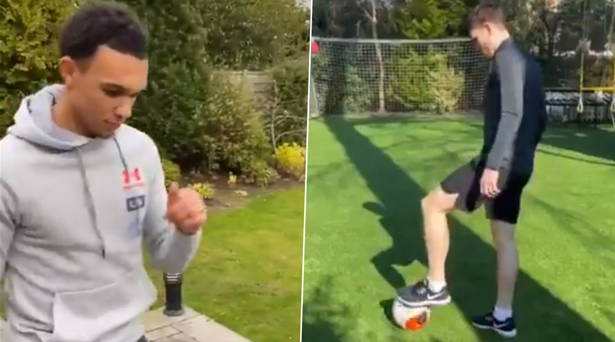Liverpool Duo Trent Alexander-Arnold and Andy Robertson Hone Their Free-Kick Skills During Self-Quarantine (Watch Videos)