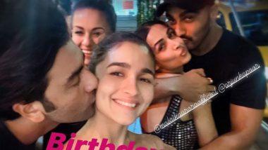Ranbir Kapoor Adorably Kissing Alia Bhatt, Arjun Kapoor Embracing Malaika Arora in This Love-Filled Throwback Picture Is Everything!
