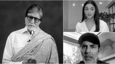 #WarAgainstVirus: Amitabh Bachchan, Akshay Kumar, Alia Bhatt and Other Celebs Raise Awareness About Preventive Measures Against COVID-19 Pandemic (Watch Video)