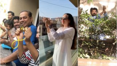 Varun Dhawan and Family, Karisma Kapoor, Anil Kapoor and More Clap From Their Balconies As a Thank You to Medical Professionals on Janata Curfew (See Videos and Pics)