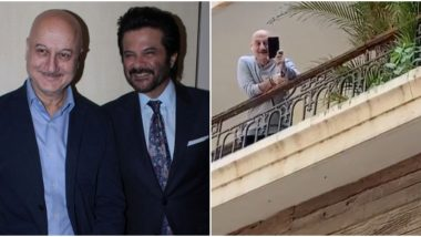 Anil Kapoor Sings for 'Self Quarantined' Neighbour Anupam Kher As the Duo Chat From Their Balconies to Follow Social Distancing (Watch Video)