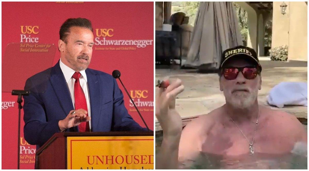 نتيجة بحث الصور عن Jacuzzi-Arnold Schwarzenegger