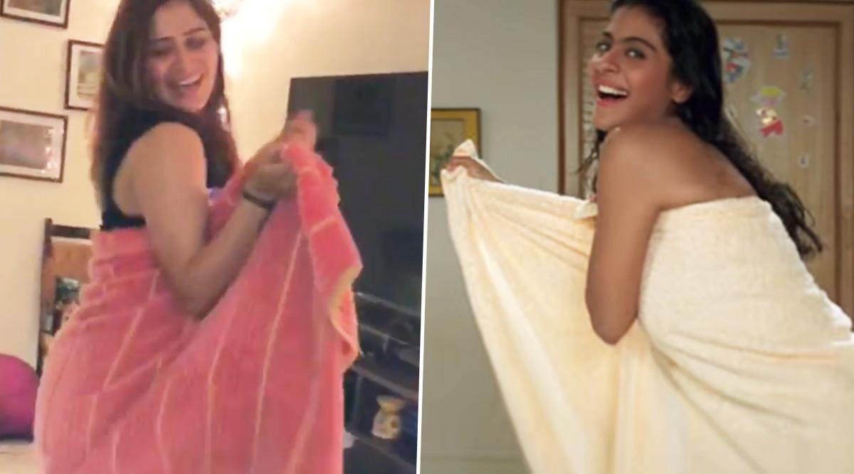 Bigg Boss 13's Arti Singh Recreates Kajol's Iconic DDLJ Towel Dance During Her Self-Quarantine Time (Watch Video)