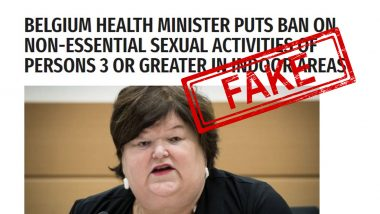 Fact Check: Group Sex Banned by Belgium to Tackle Coronavirus Outbreak? Know Truth Behind Viral Article