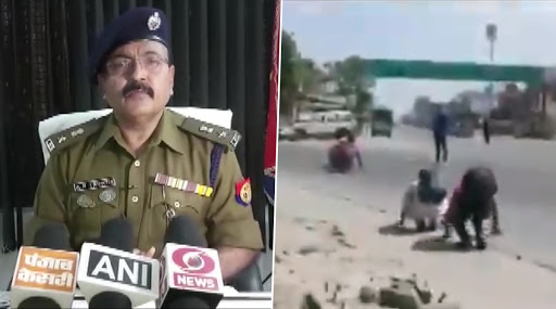 Uttar Pradesh Policemen Make Migrant Workers Walking to Their Native Village Crawl on Road Amid Complete Lockdown, Badaun SSP Apologises