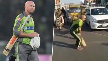 Ben Dunk 2.0? Lahore Qalandars' Fan Hilariously Imitates the Australian Batsman (Watch Video)