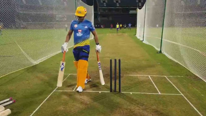 MS Dhoni Pads up for Mumbai Indians vs Chennai Super Kings, IPL 2020, Fans go Berserk on Social Media as They Trend #WelcomeBackDhoni