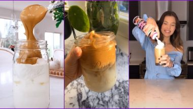Dalgona Coffee TikTok Videos: Netizens Try The Latest Viral Trend of Brewing Thick Coffee at Home (Check Recipes)