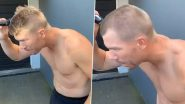 David Warner Shaves Off His Head in Support of Medical Workers, Nominates Virat Kohli, Steve Smith and Others (Watch Video)