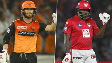 David Warner vs Chris Gayle: Sunrisers Hyderabad and Kings XI Punjab Engage in Banter Over the Most Destructive Opener in IPL History