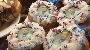 New York Shop Sells Doughnuts Featuring Face of Dr Anthony Fauci, Leading Battle Against Coronavirus in US (Watch Video)