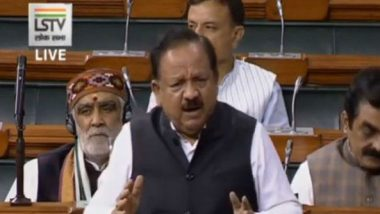 Coronavirus Outbreak in India: 15 Laboratories Started for COVID-19 Tests, Says Union Health Minister Harsh Vardhan in Lok Sabha