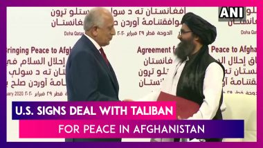 U.S., Taliban Sign Peace Deal: Phased Withdrawal Of Coalition Troops After 18 Years Of War