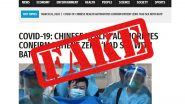 'Chinese Health Authorities Confirm Patient Zero Had Sex With Bats'; Fake News Goes Viral, Here's The Fact Check