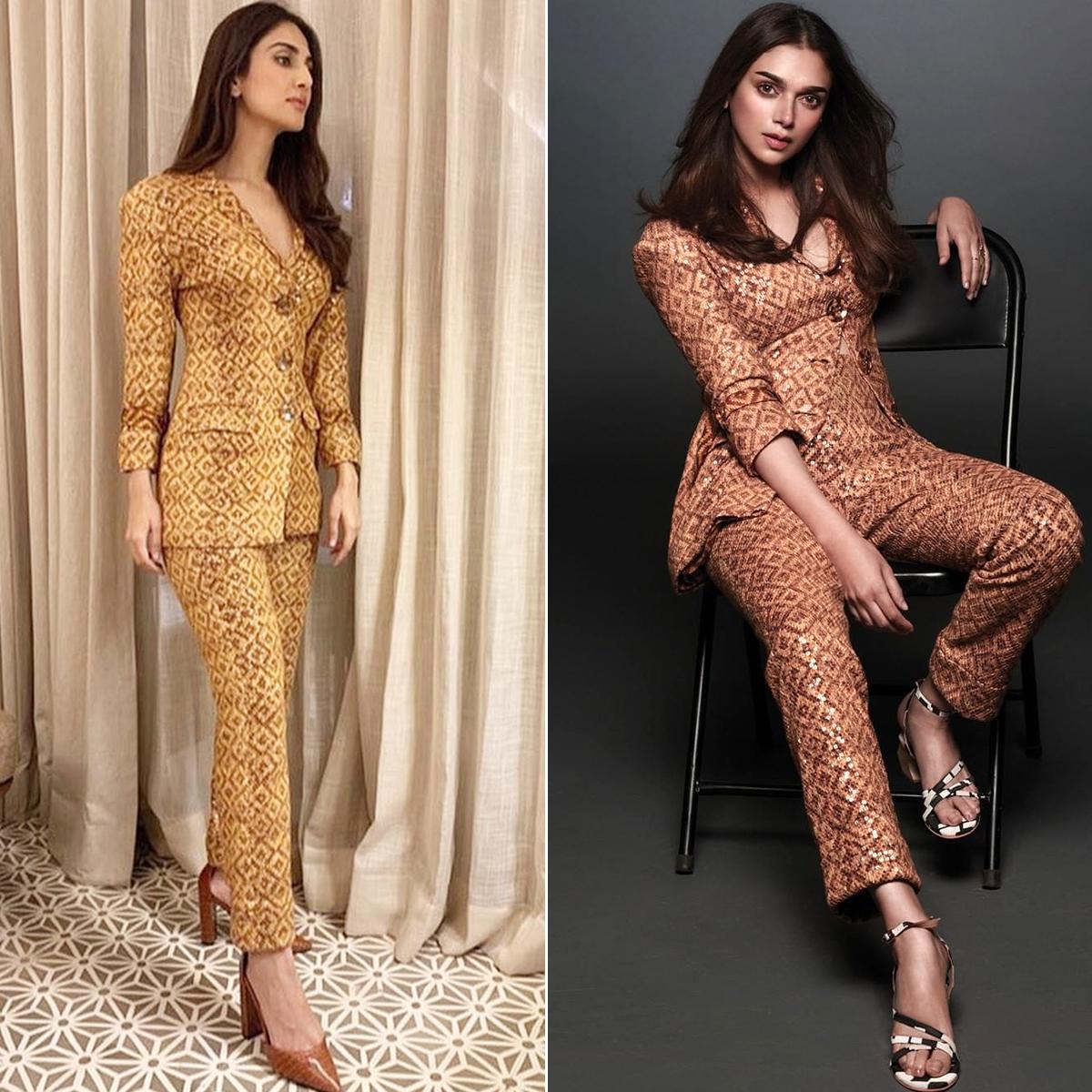 Fashion Face-Off - Vaani Kapoor Vs Aditi Rao Hydari in Nikita Mhaisalkar Pantsuit