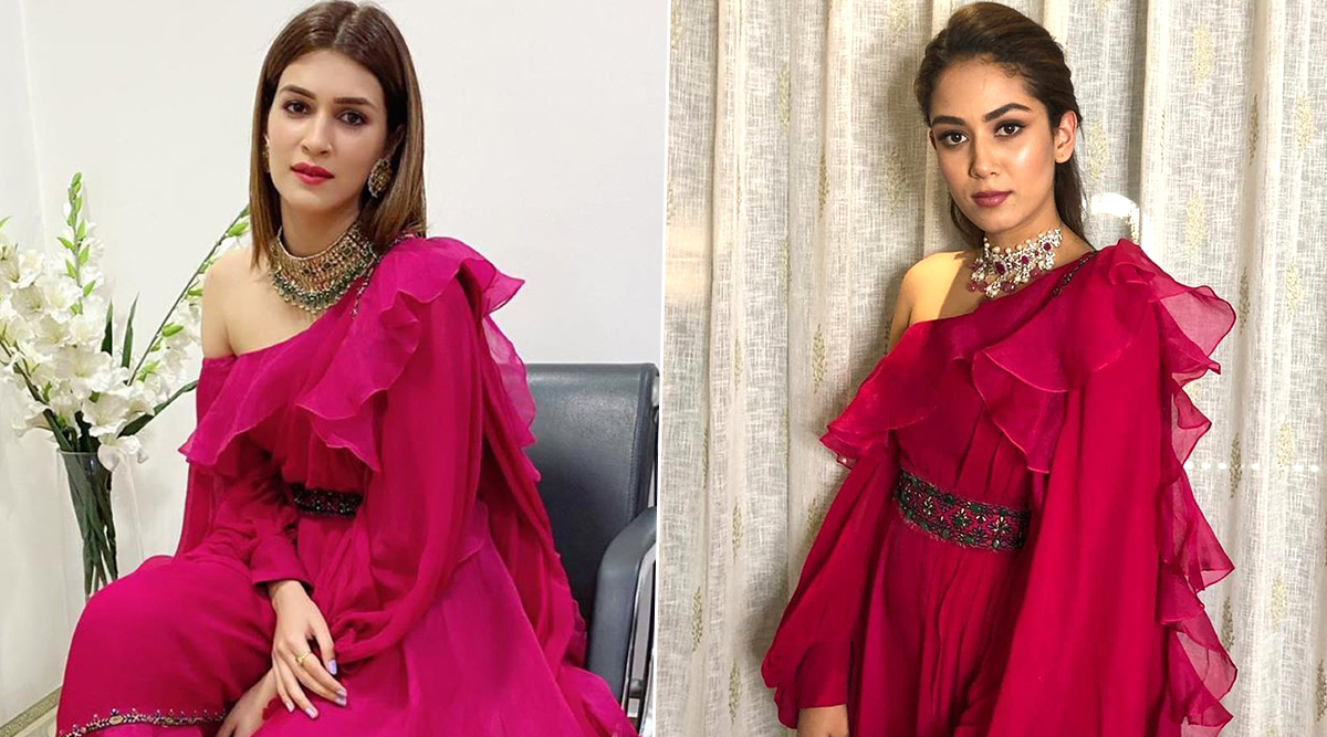 Fashion Face-Off: Kriti Sanon or Mira Rajput Kapoor? Who Aced the Fuchsia Pink Jumpsuit Style by Ridhi Mehra?
