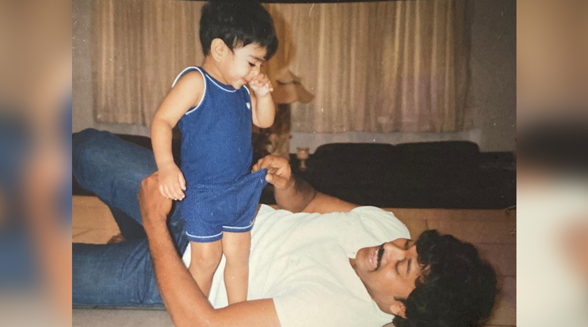 Chiranjeevi Shares a Childhood Pic of Ram Charan on His Birthday; Megastar Is Overjoyed That His Son Was Born on World Theatre Day